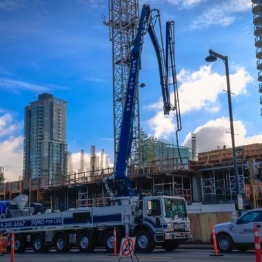 This is how buildings are made. This amazing machine is essential for building a city. I captured this concrete set up outside a construction site as I looked in awe at the power and effectiveness of this beautiful machine.