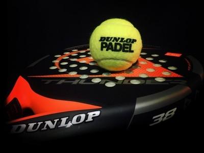 Padel racquet & ball.