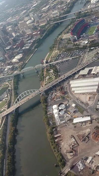 Flying over Nashville