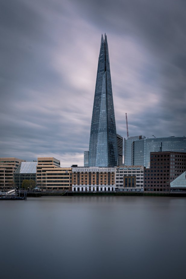 Thames river and The Shard, London