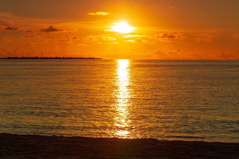 Sun setting over the Indian Ocean