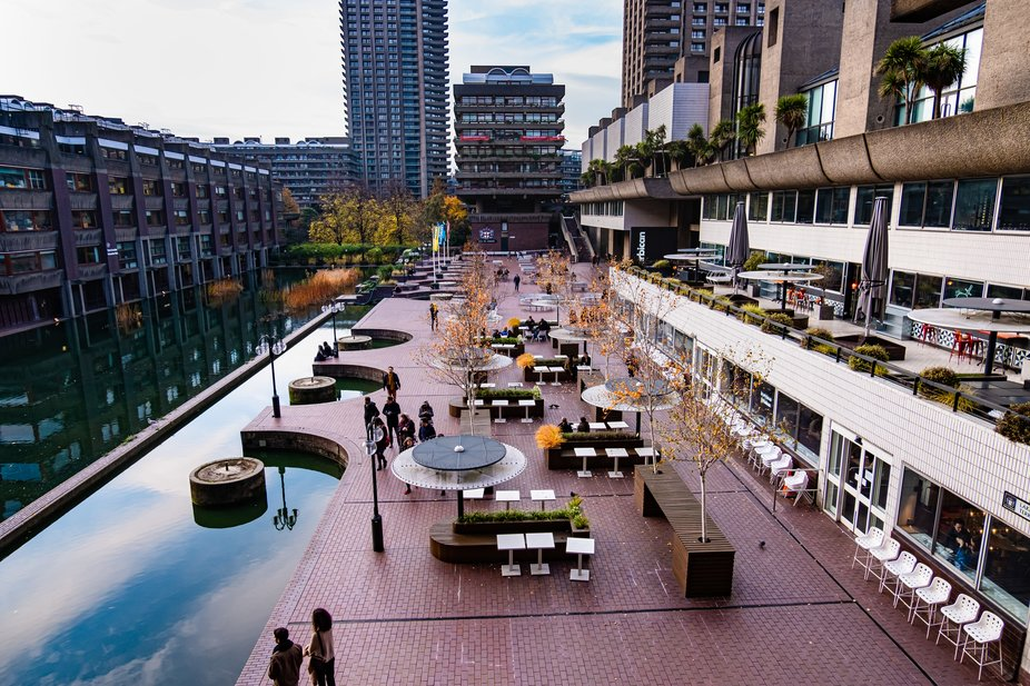Autumn colours out in force on the Barbican terrace this afternoon (according to the Met Office, ...