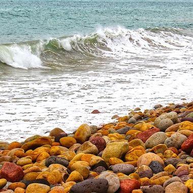 Colorful rocky beach, Puerto Vallarta, Jalisco, México