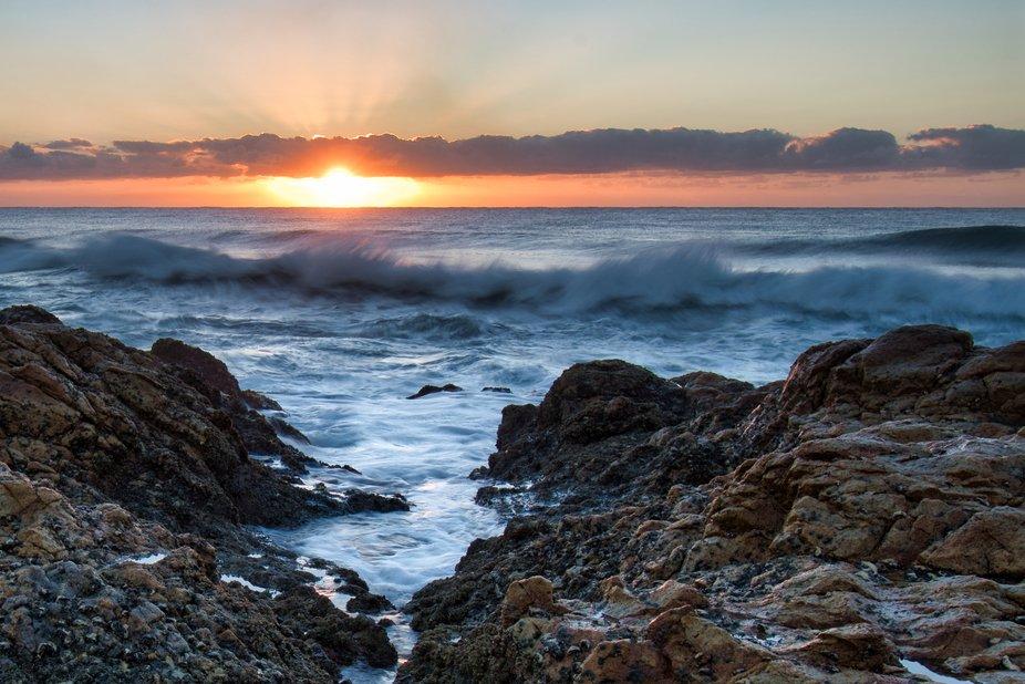 Photo of a Sunrise at the Kwazulu Natal South Coast.
