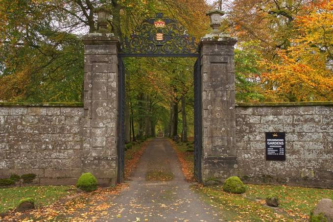 Autumn at Drummond Castle. One for the Outlander fans.