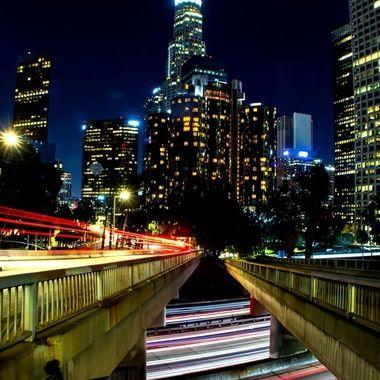 LA by night 4th st