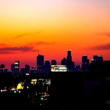 LA Sun Set City Scape