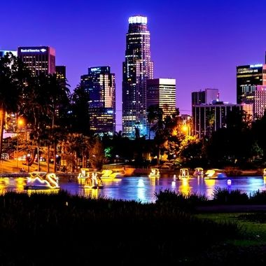 LA Night Echo Park City Scape