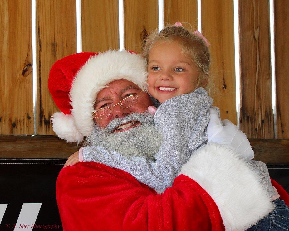 Santa and an angel