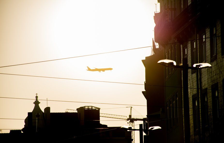 plane passing by