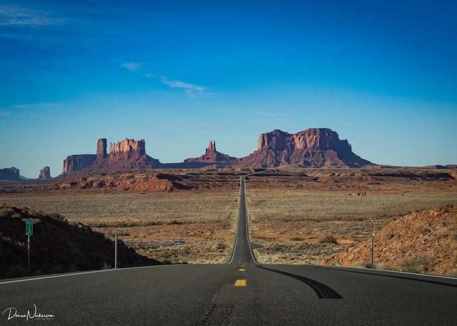 The infamous Forrest Gump shot.  Near Monument Valley, UT