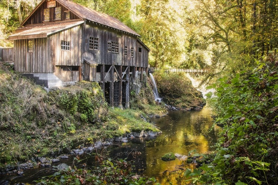 An old grist mill near Woodland, Washington...