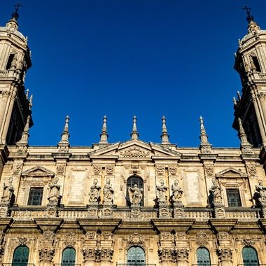 a close up view of the roof of the cathedral found at the center of Jaen which is one of the many amazing places to visit in Andalucía, Spain