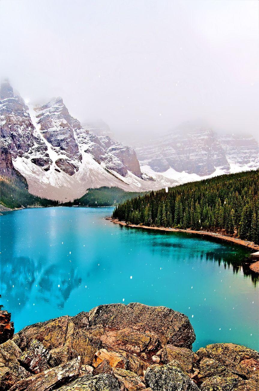 Moraine Lake, Alberta, Canada, Winter Reflections