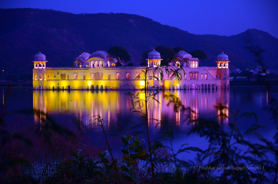 """""""Jal Mahal"""", the water palace, Jaipur, the capital city of Rajasthan, India. Th..."""
