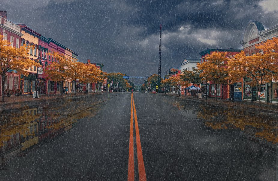 I was trying to make it look like it was raining.  I'm still working on the technique, b...