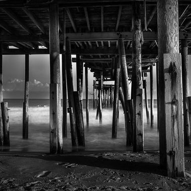 Frisco Pier near Cape Hatteras in North Carolina