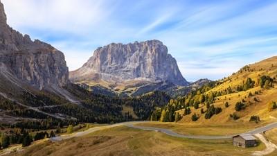 Autumn in Passo Gardena