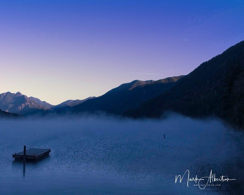 Mist on Lake Crescent