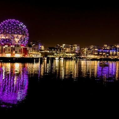 Science World Reflections at night