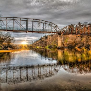 _S6A7878 Sunset, Old Fair Oaks Bridge-2