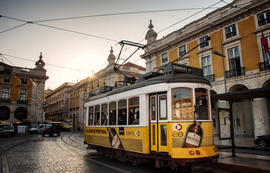 tramway in lisbon
