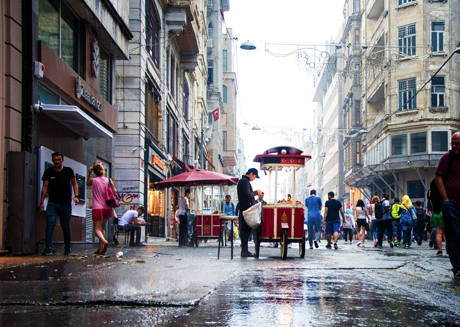 taksim in a rainy day