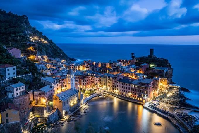 Vernazza by igorbabichenko - Capture The Blue Hour Photo Contest