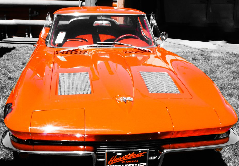 A Beautiful Corvette a Memory from  from my past  a kool ride