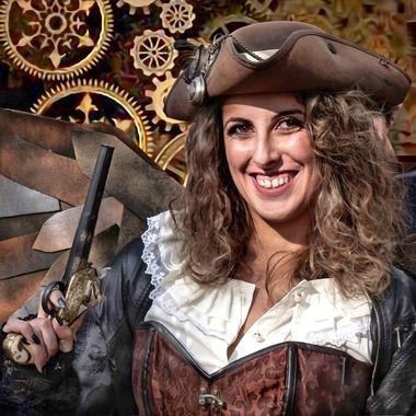 Steampunk winged pirate