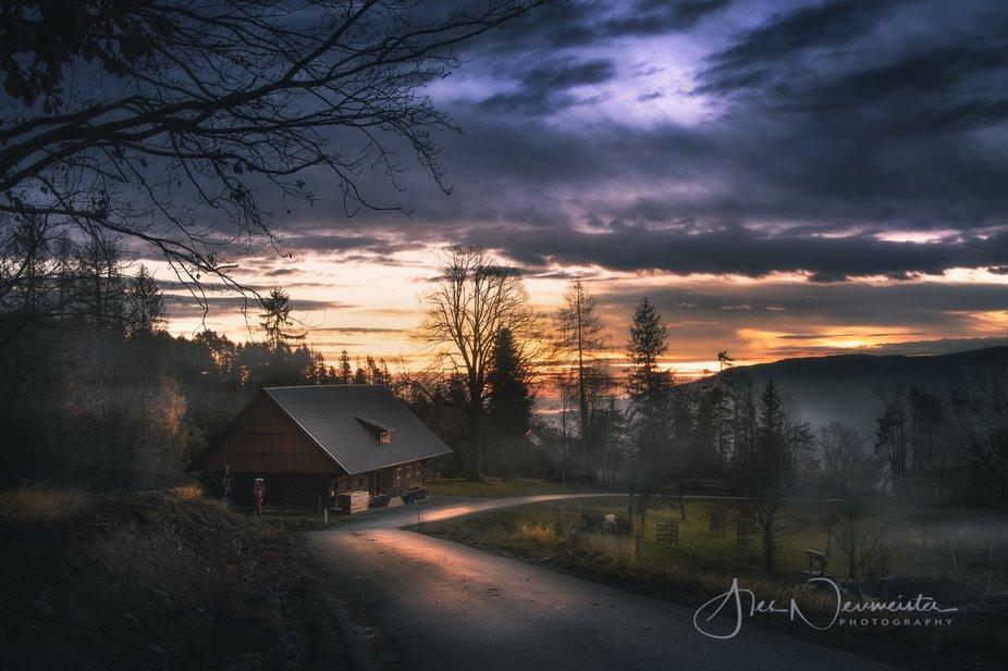 Sunrise over Pohorje hills - Slovenia