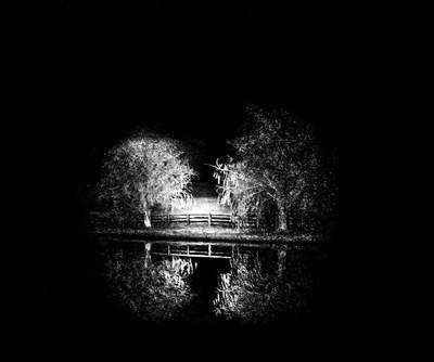 A December Midnight at Willow Pond....