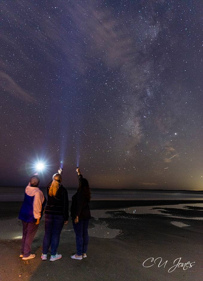 Sunset & Stargazing on Folly Beach with these 2 great ladies
