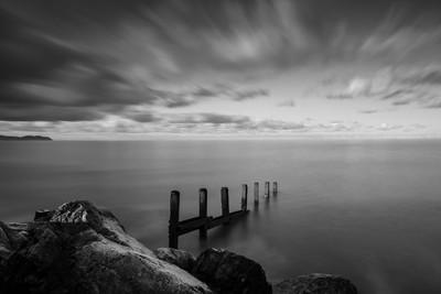 Frosty sea defences