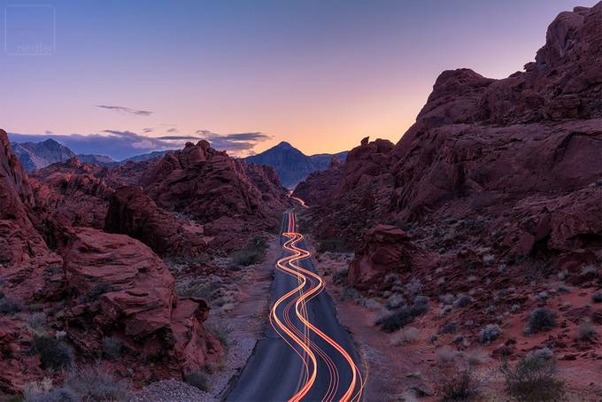 into the night by peternestler - My Ultimate Road Trip Photo Contest
