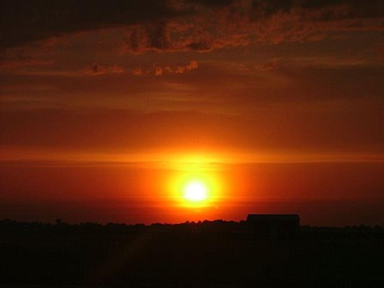 Sunset in Orange and Black in Delaware I