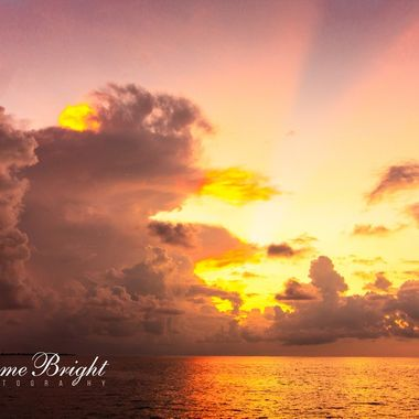 Sunset Cruise in the Indian Ocean - small storm blocked the direct view but made for and interesting lightshow