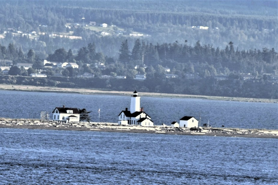 Picture of a lighthouse on our way out of Seattle.