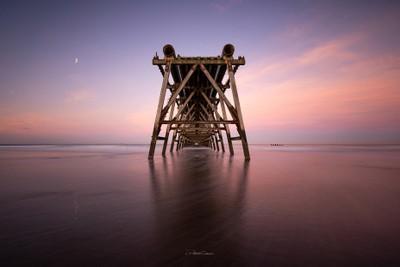 Steetley Pier Sunset