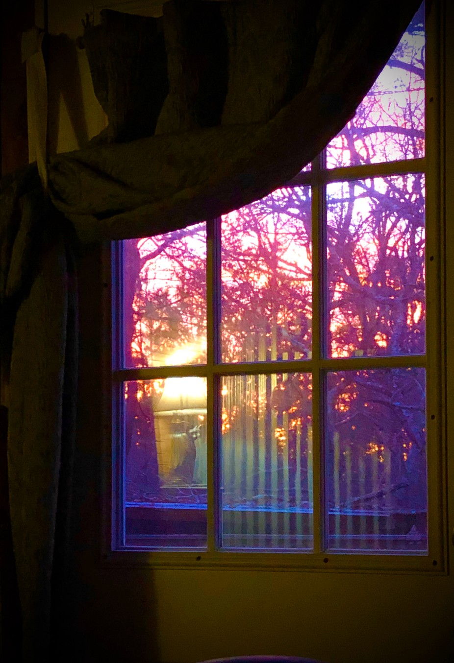View from my bed. Sunset.
