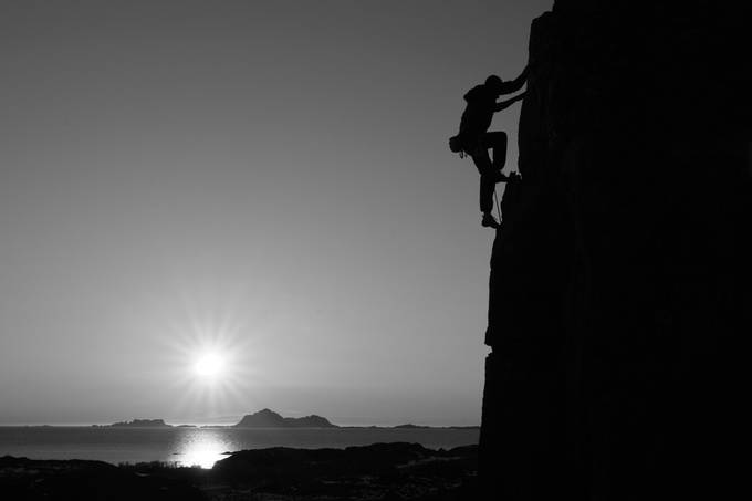 Climbing the sunset by ianrobins - Black And White Compositions Photo Contest Vol8