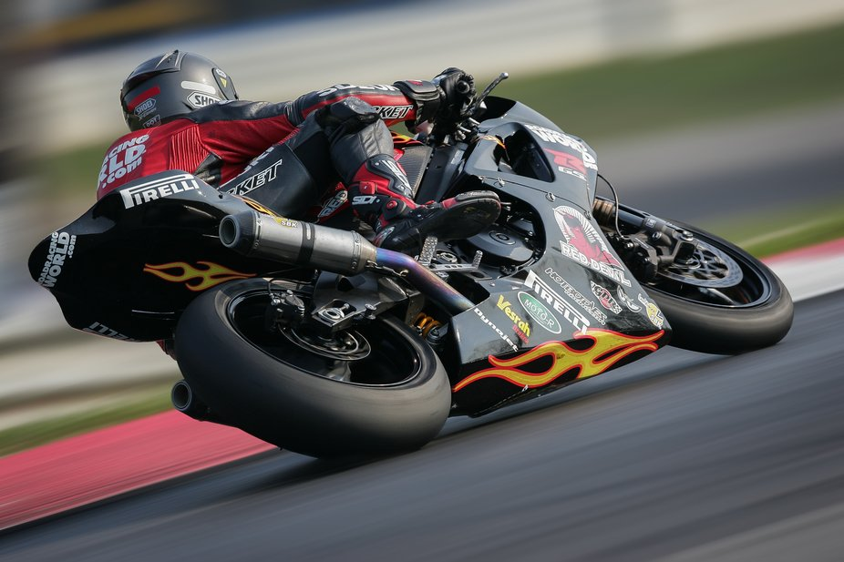 taken in indy when covering some ama.  used my canon 1DX and my canon 300 F2.8L at 1/40th shutter...
