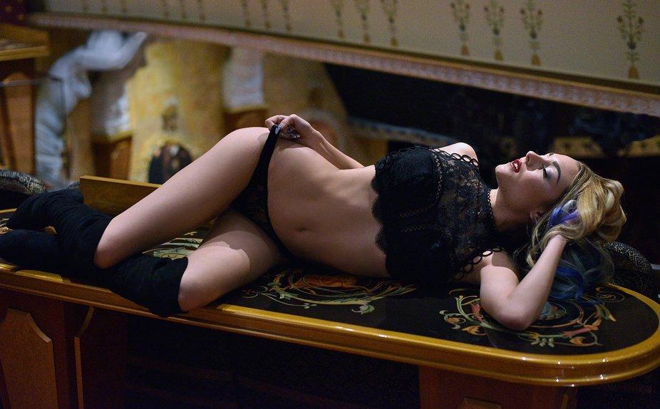 Shot of Katie in the Phantom Theater... Cruiseboat Photoshoot