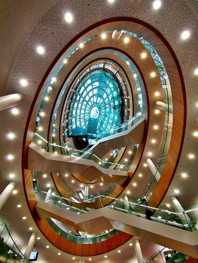 Spiral Library Staircase