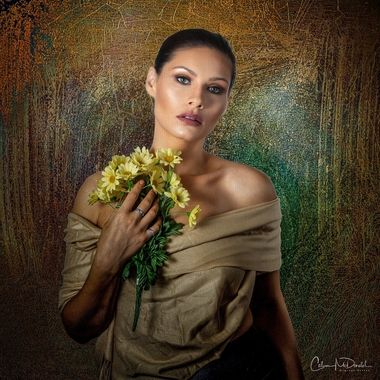 A digital photo artistry canvas.