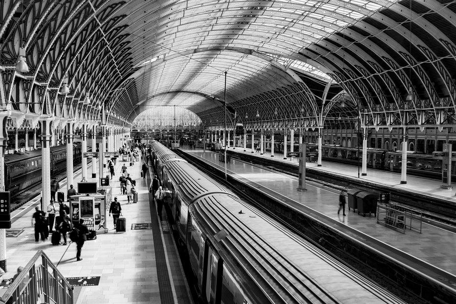 The old world charm of Paddington Station, London.