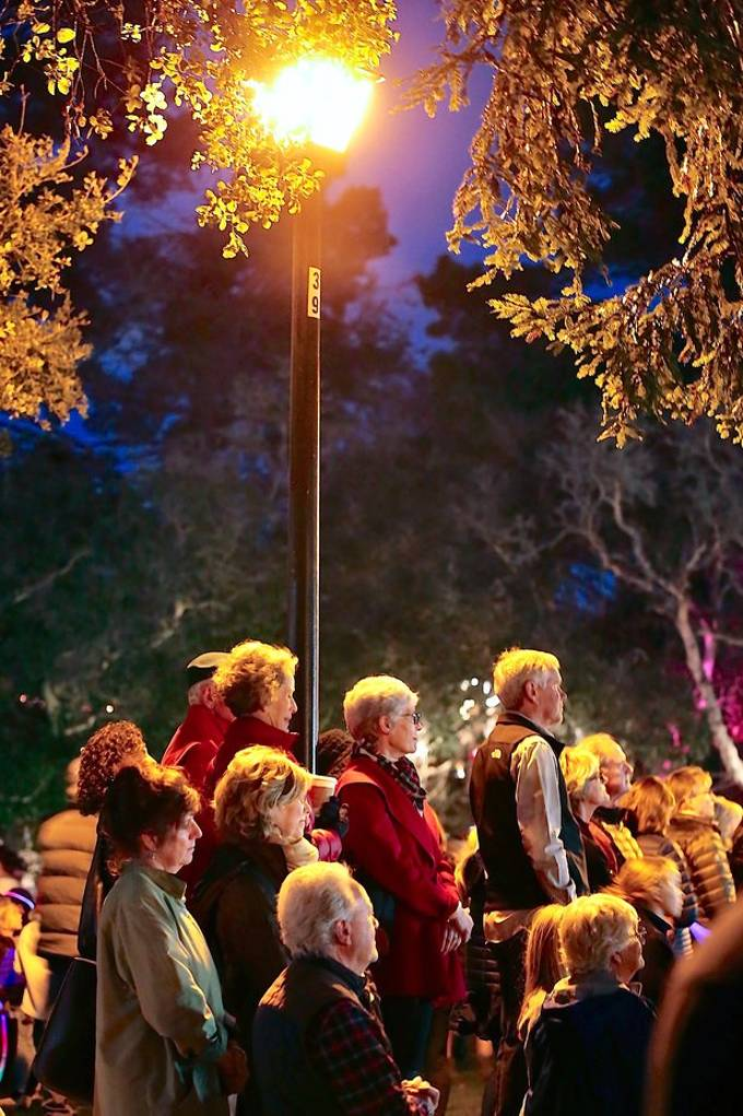 """Holiday Celebration, this particular scene was my """"charies dicken's"""" inspired scebe undervthe street lamp..."""