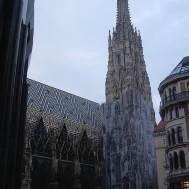 Stephansdom in the center of Vienna, Austria.