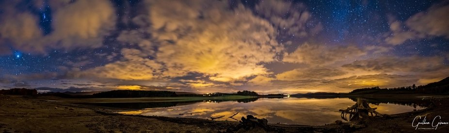 Montbel Lake by night, SW France