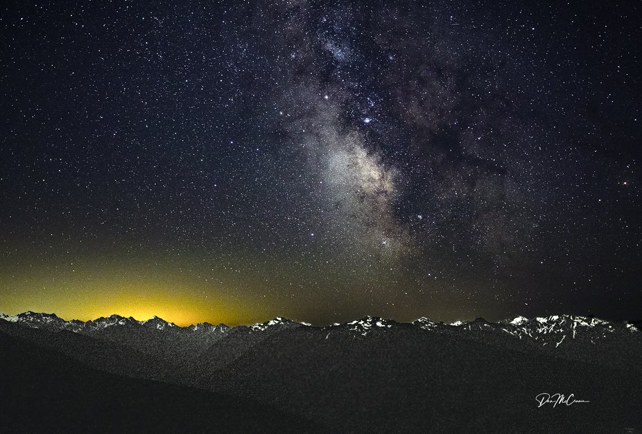 Milky Way Over Hurricane Ridge, Olympic NP, WA